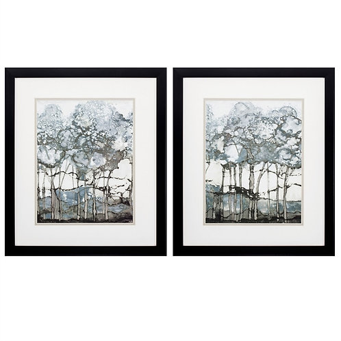 Watercolor Forest Set of 2