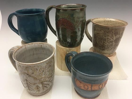 Colorado Carved mugs