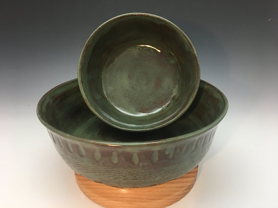 Matcha Nesting Bowls, set of 2