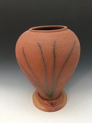 Grass design vase