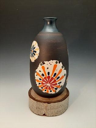 Pointilism vase