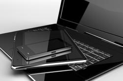 phone laptop