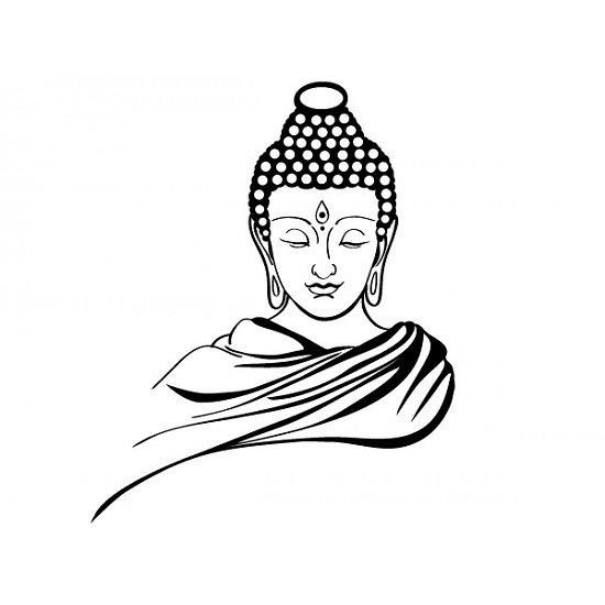 Buddha Face Line Drawing : Lord buddha face line art pixshark images
