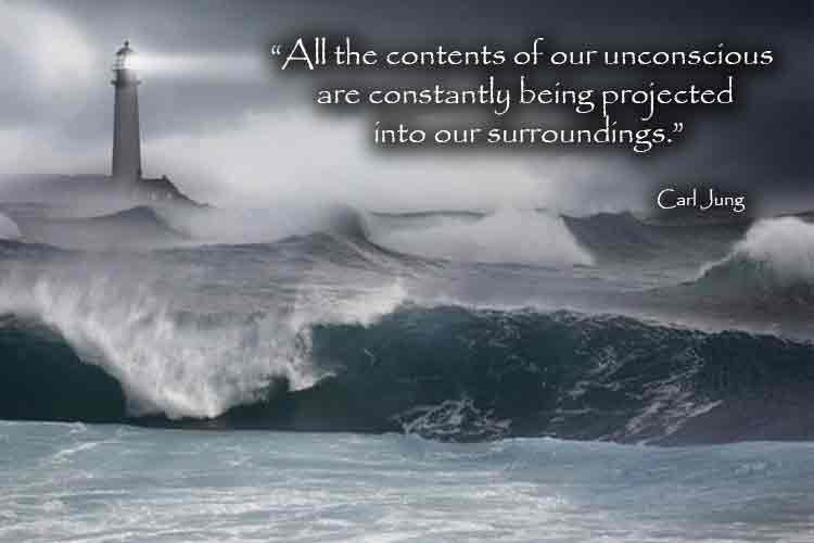 "Quote by Carl Jung - ""All the contents of our unconscious are constantly being projected into our surroundings."""