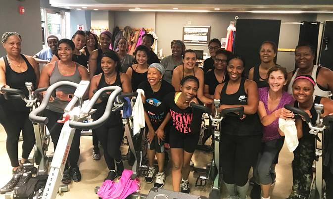 Black Women Cycle Spin Class
