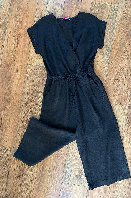 Linen culotte jumpsuit