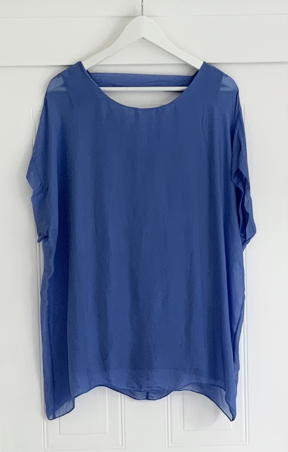 Silk top lined