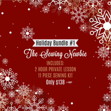 Holiday Bundle #1: The Sewing Newbie