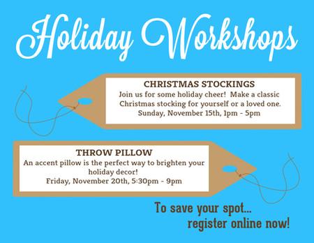 Holiday Workshop Series