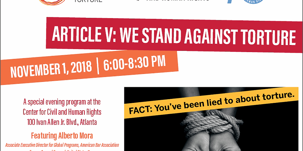 Article V: We Stand Against Torture