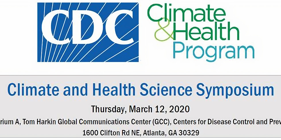 CDC's Climate & Health Science Symposium