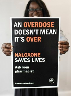 Overdose Doesn't Mean It's Over is a new campaign, led by the Rhode Island Department of Health, with support from the CDC Foundation. Photo: © Josh Behan / CDC Foundation