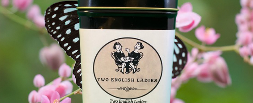 Two English Ladies Irish Breakfast Tea Tin