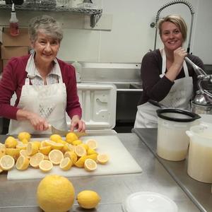 Sliceing Fresh Ingredients