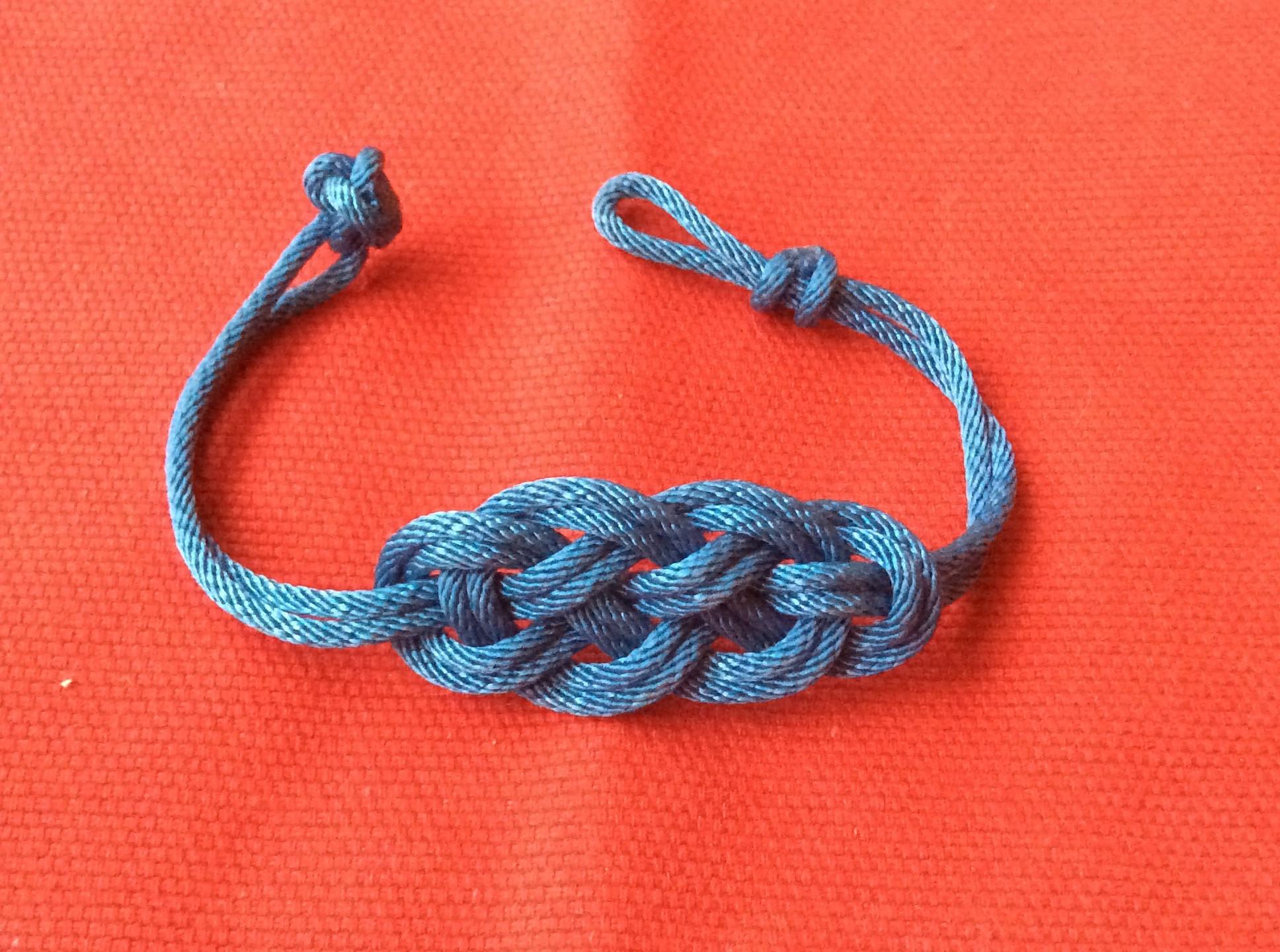 Bracelet Tressé Bleu