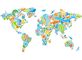 Carte du monde dessins d'enfants