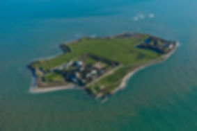 Vue aérienne de Tatihou