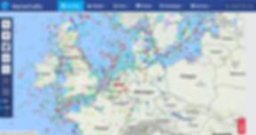 Capture d'écran de MarineTraffic.com