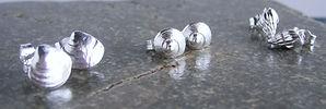sentio jewellery small shell studs