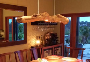 Custom Chandelier Made From Eucalyptus Log