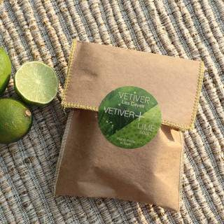 Hand made soaps in Vetiver+Lime