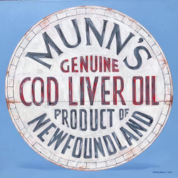 Munn's Cod Liver Oil Barrel