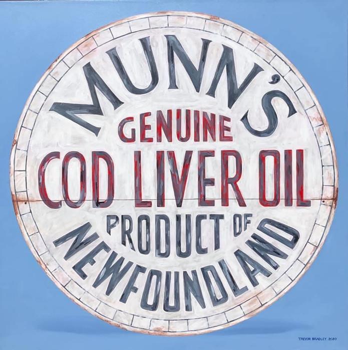 Munn's Cod Liver Oil Barrel Top