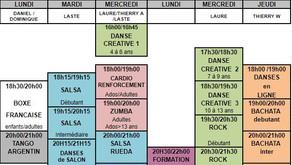 MàJ Planning des cours