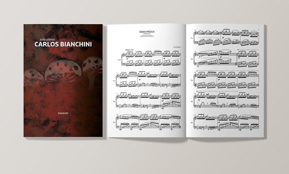 CARLOS BIANCHINI: PAISAJES Op. 7 (Piano Score)