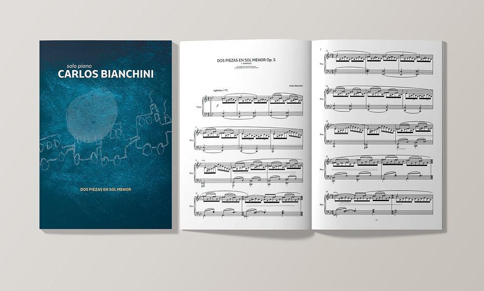 CARLOS BIANCHINI: DOS PIEZAS EN SOL MENOR Op. 5 (Piano Score)