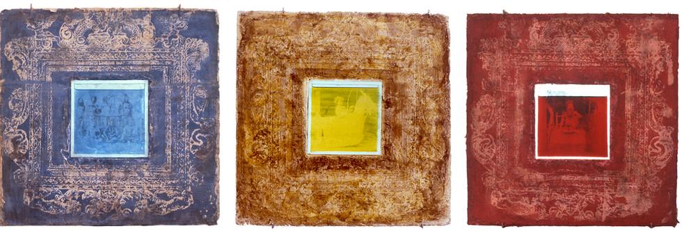 Sin titulo Emulsión fotografica sobre adobe y metacrilato. 30 x 110 cms 1990.