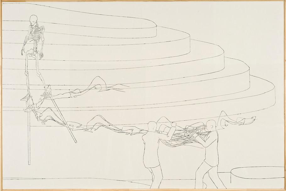 """Sketch"" Encáustica sobre madera. 80 x 120 cms 2008"