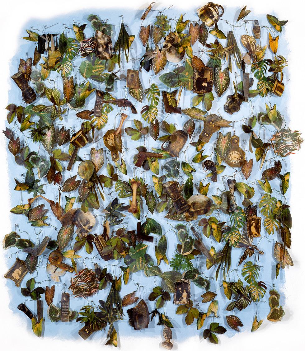 Sin Título Impresión digital sobre tela, cera. 200 x 180 cms 1993