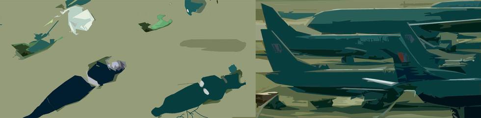 """""""Sin título"""" Laca sobre madera, 40 x 153 cms 2003"""