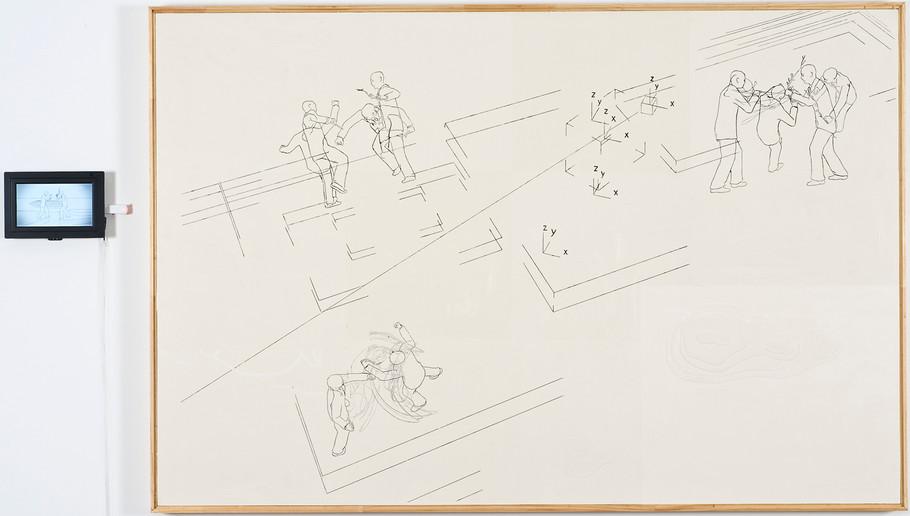 """""""Sketch"""" Animación, encáustica sobre madera. 80 x 120 cms 2008"""
