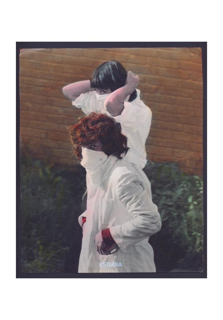 Andres Orjuela De la serie Archivo Muerto Estudiantes UNAL  Fotografía vintage iluminada con óleos Marshall`s 21 x 25 cm      2018