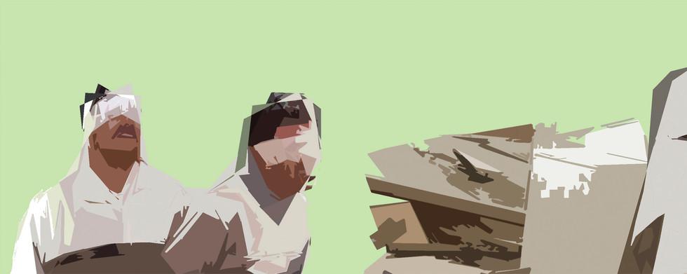 """""""Sin título"""" Laca sobre madera, 60 x 153 cms 2003"""