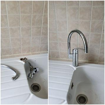 mitigeur évier remplacement et installation plombier chartres eure et loir