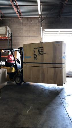 Loading Lift Vans Cross Dock