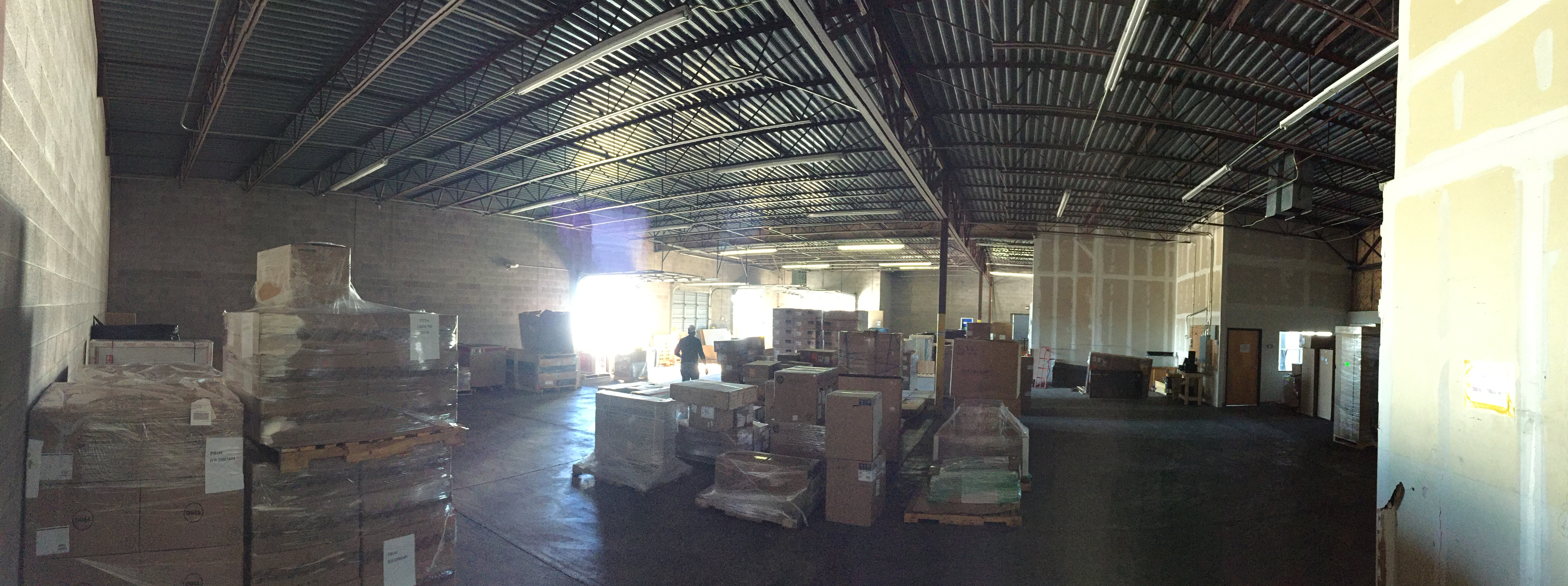 Inside Warehouse Facing West
