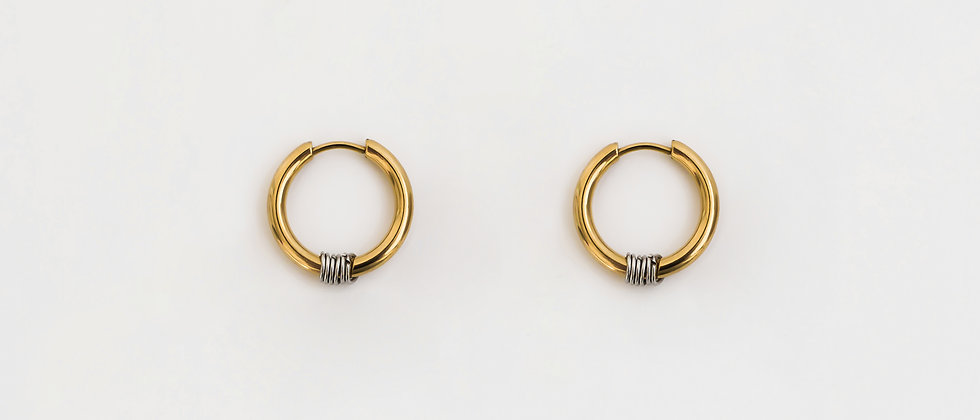 azzure hoops gold