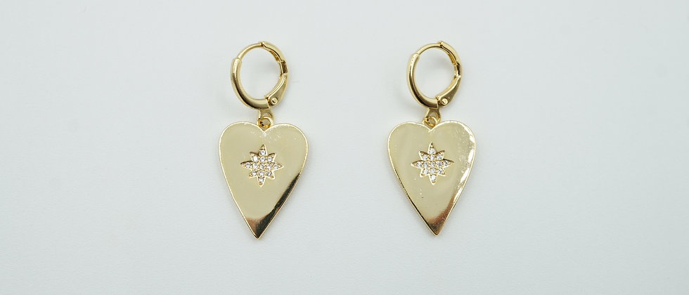 sia heart earrings