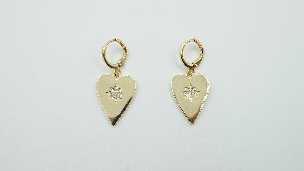 sia heart earrings