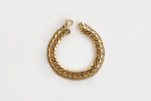 rica double chain bracelet