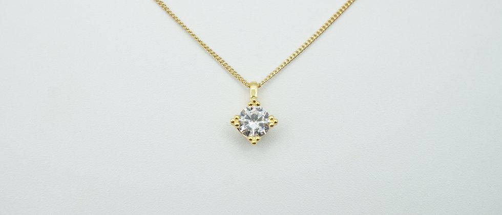 miniature 925 stirling silver diamond necklace