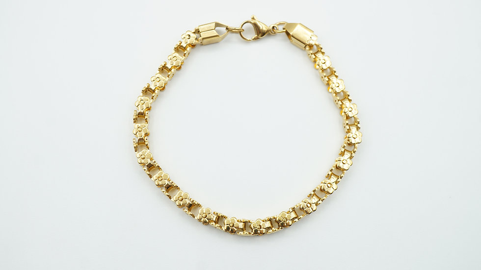 nola flower chain bracelet