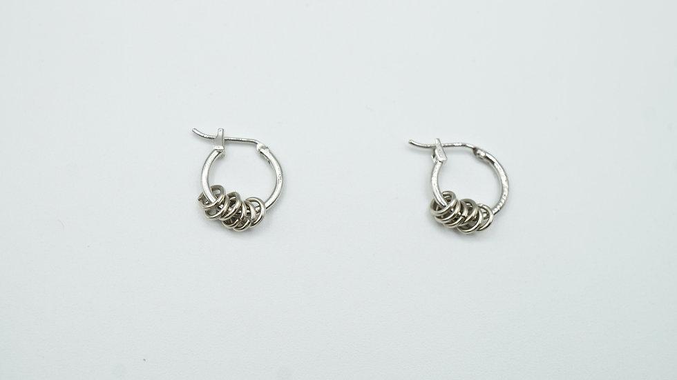 silver multi ring hoops