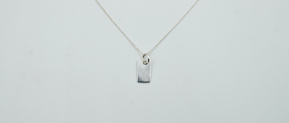 miniature 925 stirling silver tag necklace