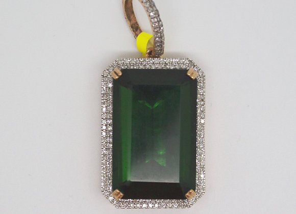 Micro Rose Green Gem Pendant