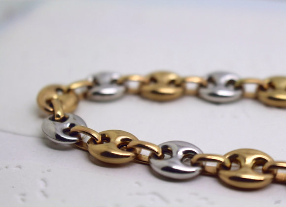 Gucci Link Chain Yellow & White Gold